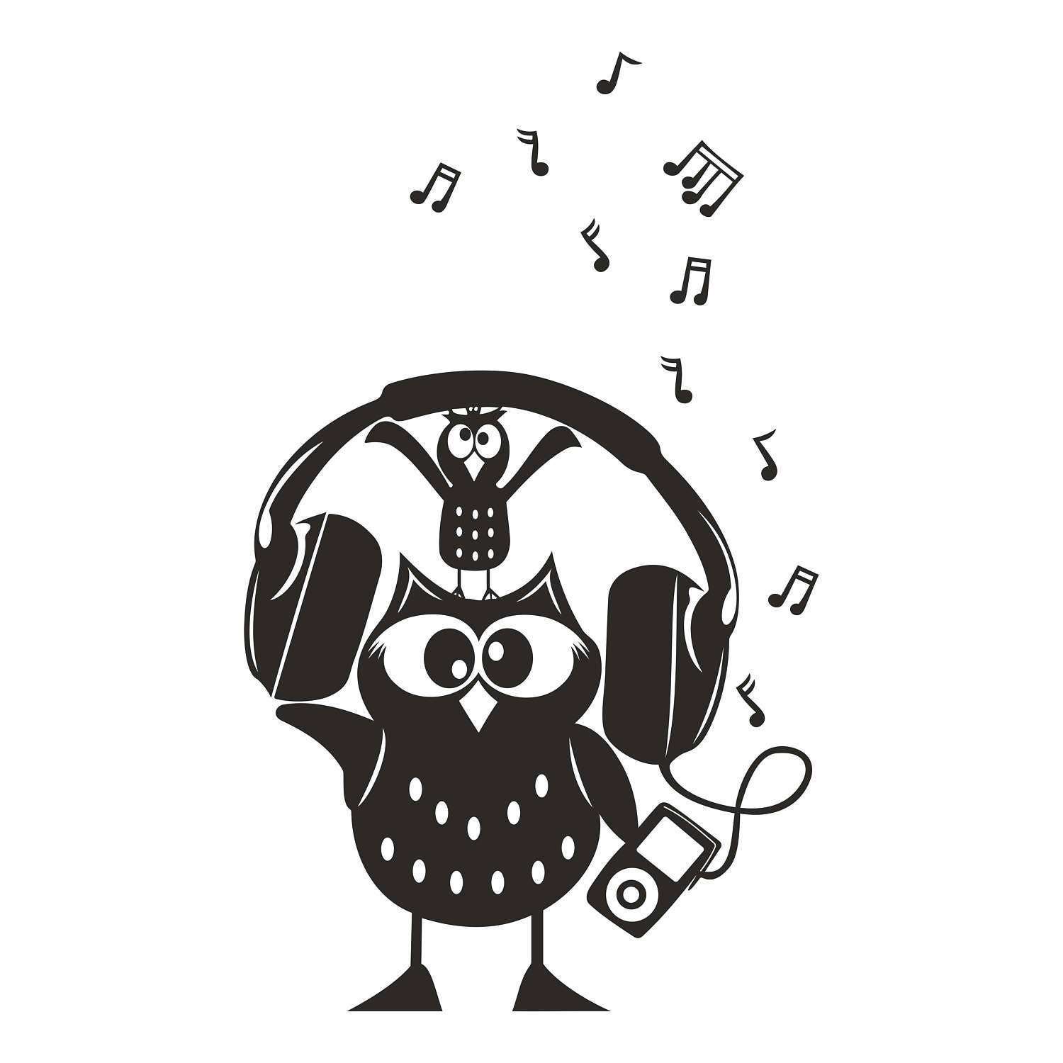 Owl Music Graphics SVG Dxf EPS Png Cdr Ai Pdf Vector Art ...