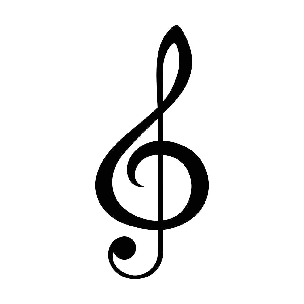 Treble Clef Music Graphics SVG Dxf EPS Png Cdr Ai Pdf