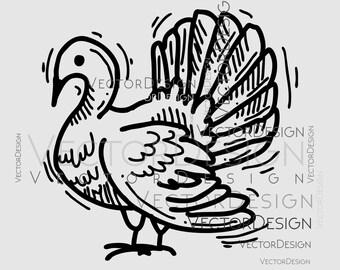 Turkey Farm Graphics SVG Dxf EPS Png Cdr Ai Pdf Vector Art Clipart instant download Digital Cut Print File Cricut Silhouette Decal