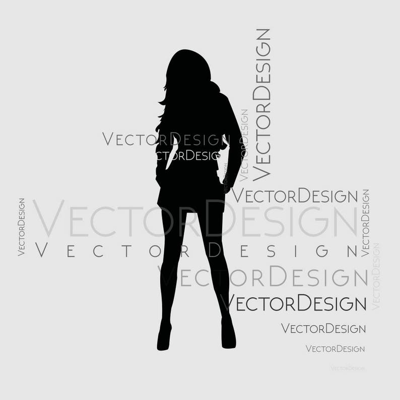 Vrouw Vrouwelijke Figuur Slanke Graphics Svg Dxf Eps Png Cdr Etsy