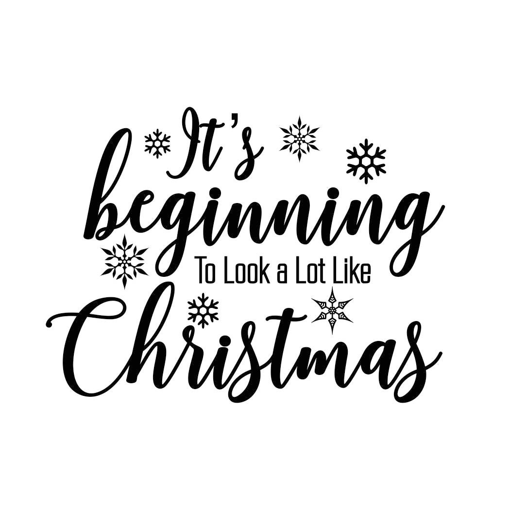 Its beginning christmas quote phrase Graphics SVG Dxf EPS ...