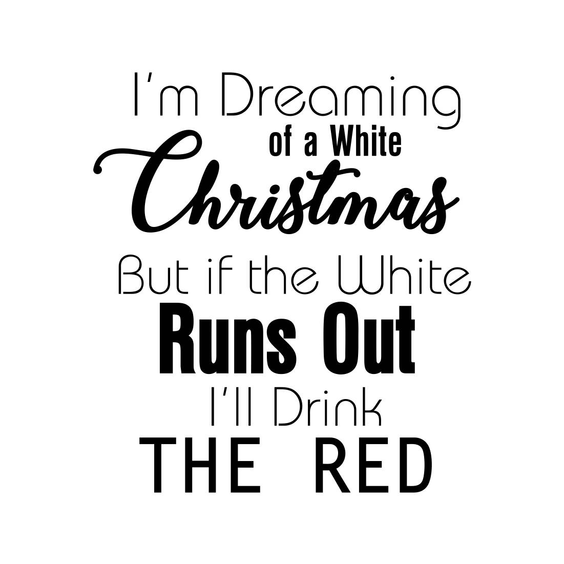 I\'m Dreaming of a White Christmas Graphics SVG Dxf EPS Png | Etsy