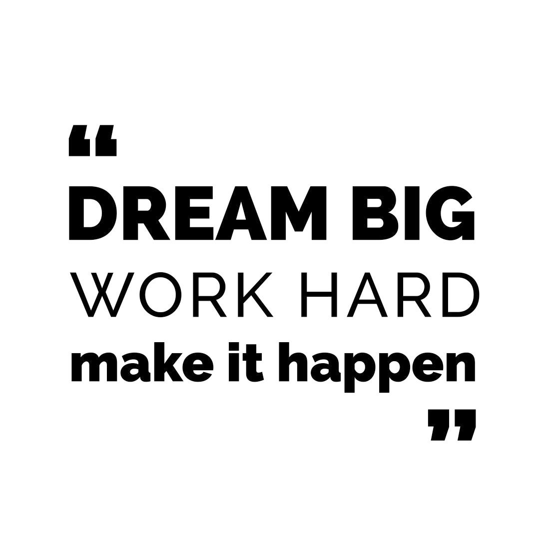 Dream Big Work Hard Make It Happen Quote Graphics Svg Dxf Etsy