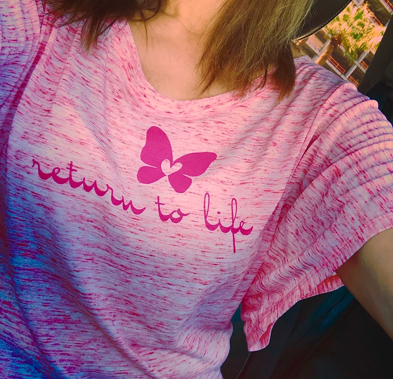 Pilates Valentine T-Shirt Return to Life Recovery Butterfly image 0