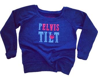 SALE Elvis Pelvis Sweatshirt, Pelvic Tilt Sweatshirt, Elvis Presley, Soft Sweatshirt, Ballet, Elvis Fan, Fleece Sweatshirt Pilates