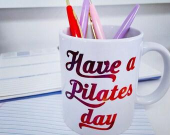 Pilates Mug, Pilates Coffee, Pilates Mug, Pilates Gift, Pilates Art, Mat Pilates, Reformer Pilates, Pilates Day Teacher