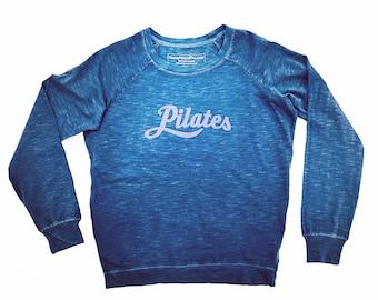 Pilates Shirt w LAVENDER script, Pilates Sweatshirt, Simple Pilates Shirt, Cotton Pilates Top, Pilates Clothing, Pilates Gift, Pilates
