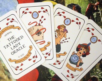 The Tattooed Lady Oracle Deck. 30 Cards + Guide Cards. Tarot Size. Oracle Cards. Oracle Deck. Tarot. Divination. Fortune Telling