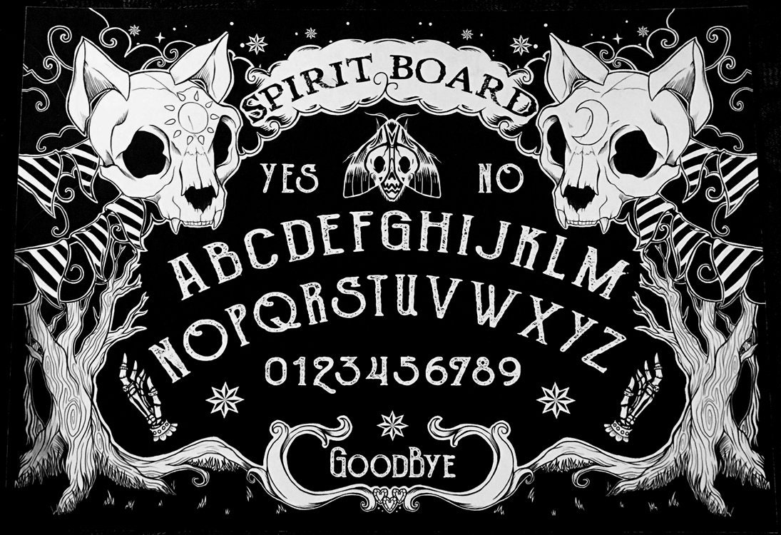 It is a picture of Légend Printable Ouija Board