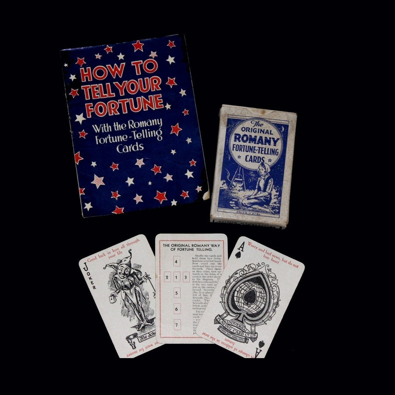 1930s The Original Romany Fortune Telling Cards With Leaflet  Thompson  Leng  Fortune Telling Cards  Fortune Telling  Fortune Teller
