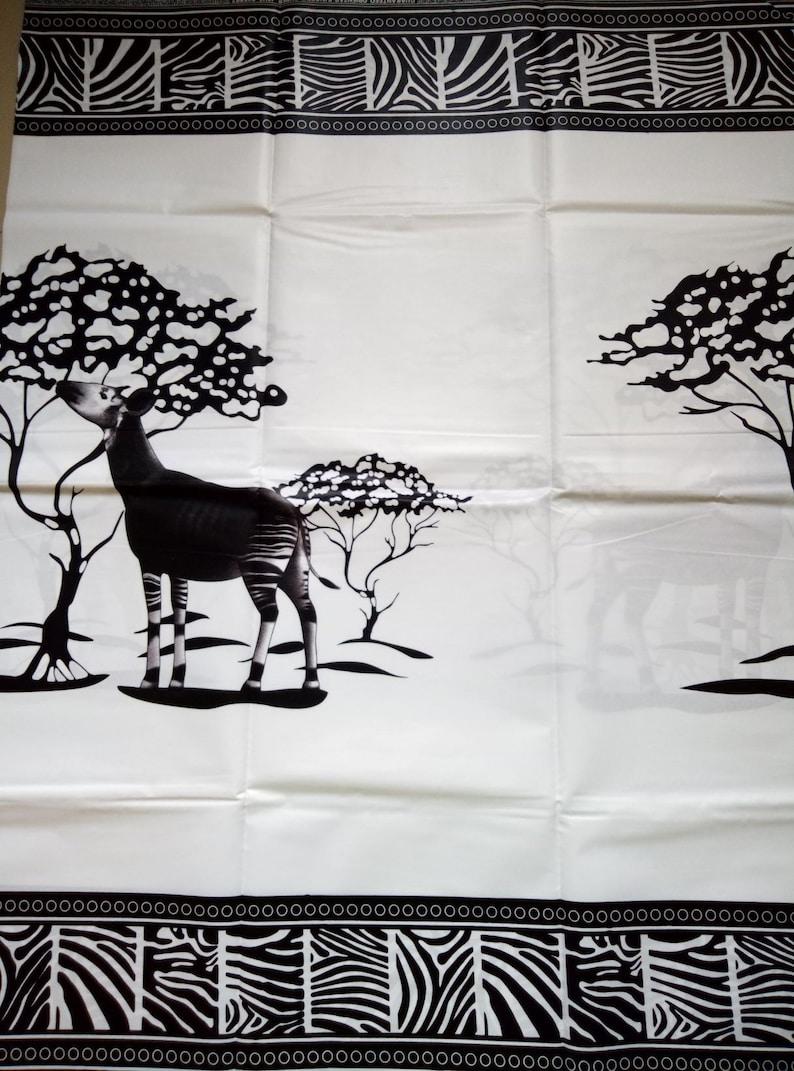 african animal fabric african fabric by the yard Fabric with zebra cotton zebra fabric fabric with okapi zebra ankara fabric