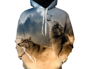 Forest Wolf Hoodie ea71acb1e459