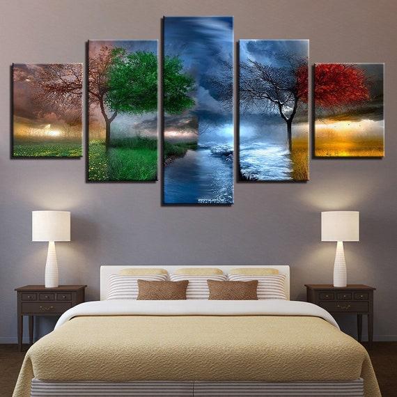 Four Seasons Canvas Set 4 Seasons Wall Decor Four Seasons