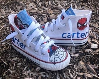 0357bdb2bf88 Custom Boys Spiderman Converse
