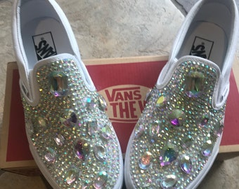 Custom Pearl Slip On Vans 5aad541d5