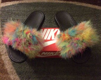 65a3ba635d04cb Custom Womens Nike Fur Slides