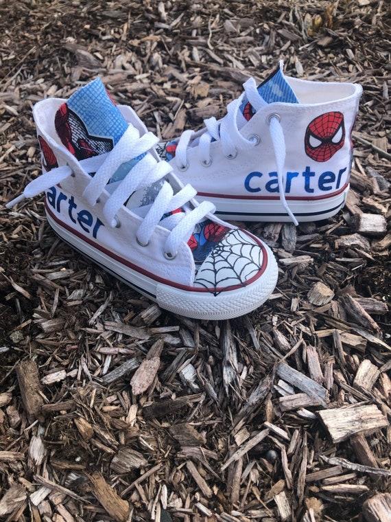 Custom Boys Spiderman Converse
