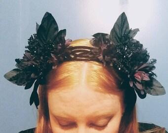 Elegant Gothic Floral Headband