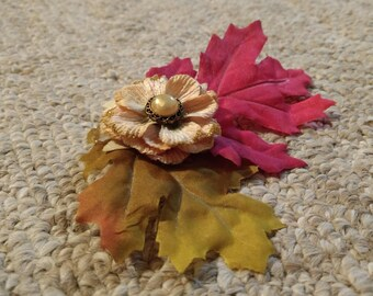 Autumn Leaves Hairpiece