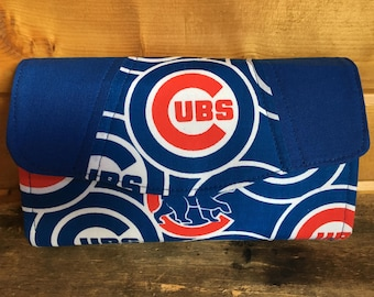 Necessary clutch wallet/NCW/Clutch/ accordion wallet/ womans wallet/Chicago cubs/handmade