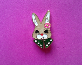Rabbit flower pins