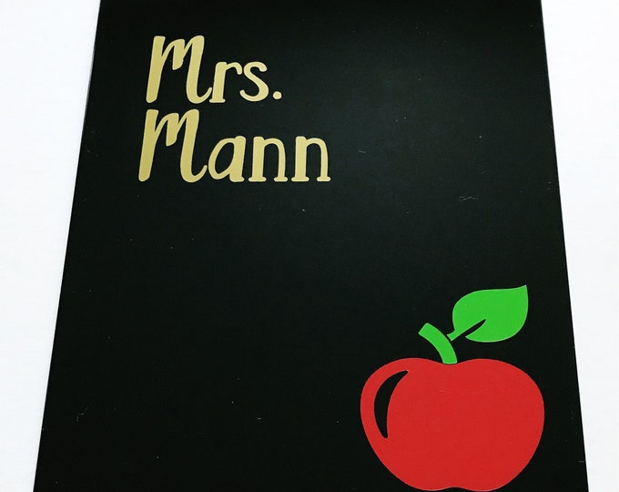 Teacher Clipboard, teacher appreciation, personalized teacher name, teacher gift, clipboard, student teacher, back to school, thank you gift