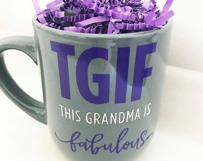 mothers day gift ideas, This grandma is fabulous, sweet coffee mug, gift for grandma, unique coffee mug, funny mug, gift for her