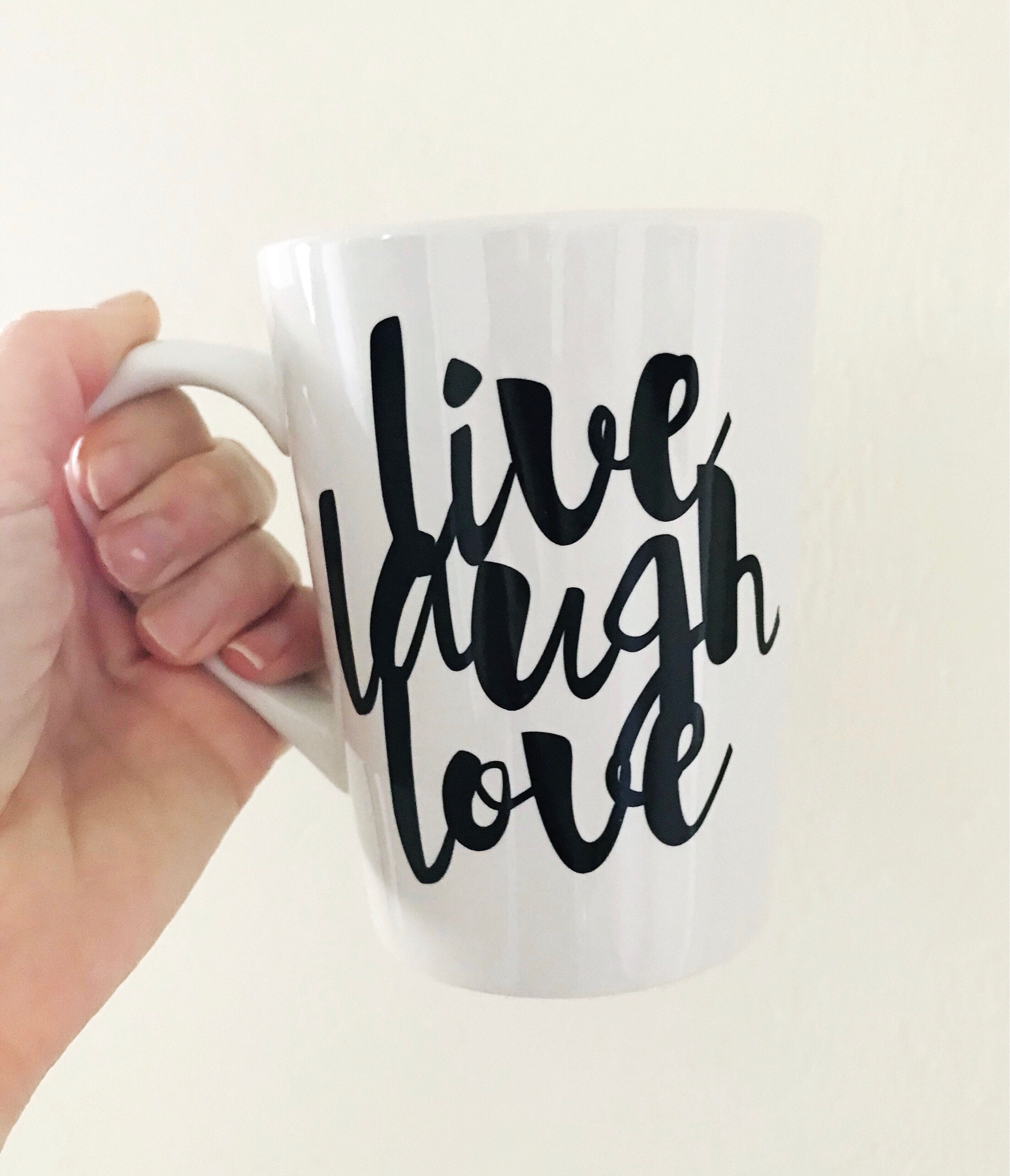 Live Laugh Love Mug College Student Gift Inspirational Coffee