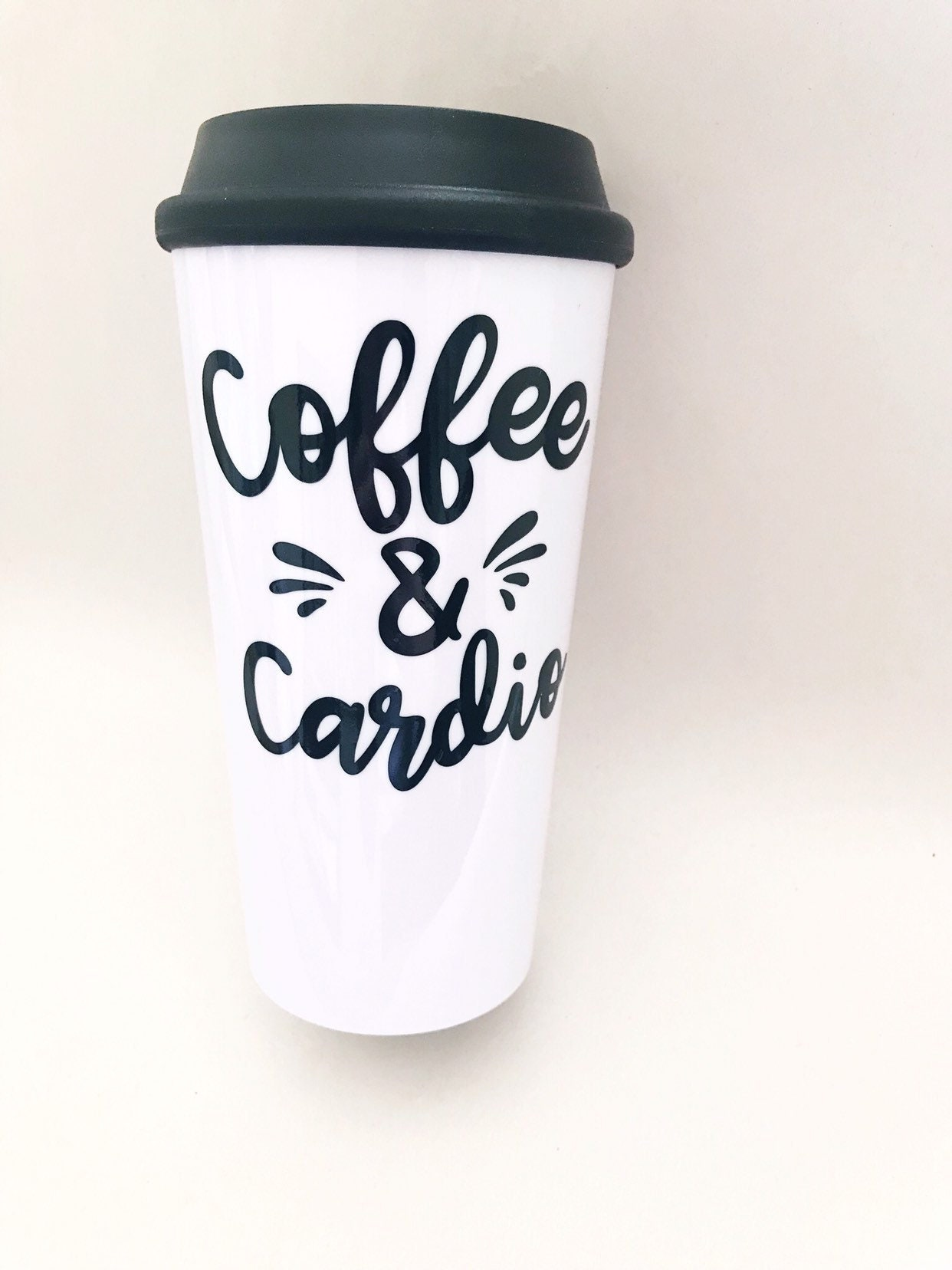 Coffee And Cardio Tumbler Fitness Gift For Her Best Friend Sister Birthday Unique Tumblers