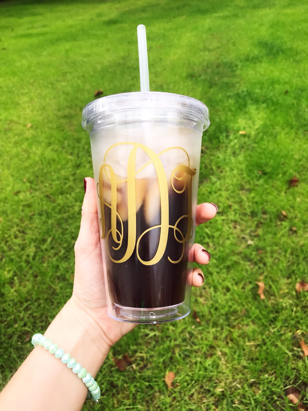 Personalized Tumbler Monogram Cup Mom Gift For Her Sister Birthday Best Friend Teacher Initials