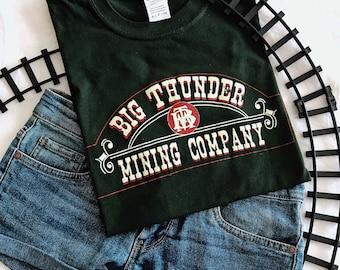 Disney Inspired Unisex Big Thunder Mountain Mining Company Logo T-Shirt