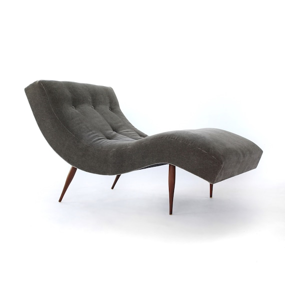 Chaise Lounge Chair.Stunning Adrian Pearsall Wave Chaise Lounge Chair For Craft Etsy