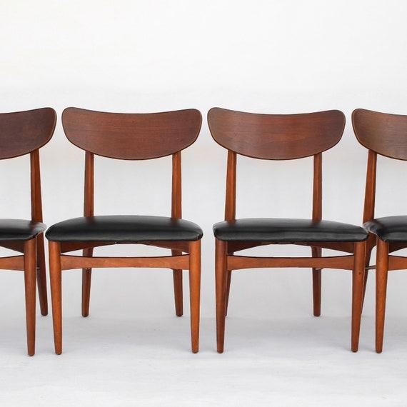 Mitte Jahrhundert Moderne Esszimmerstühle Set Von 4 Danish Etsy