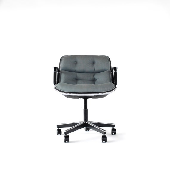 Knoll Pollock Chair Mid Century Modern Office Chair by Charles Pollock for  Knoll International Office Furniture 5 Star Base