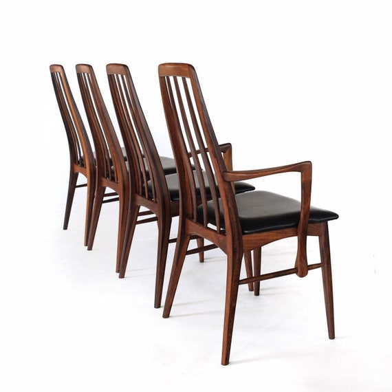 Superb Stunning Rosewood Eva Dining Chairs By Niels Koefoed Set Of 4 Vintage Mid Century Danish Creativecarmelina Interior Chair Design Creativecarmelinacom