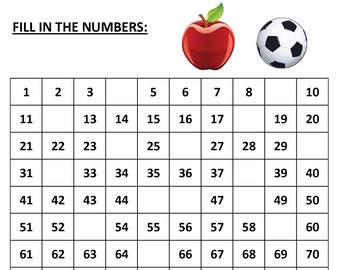 Missing Numbers 10 Printable Worksheets Pdf Preschool Etsy