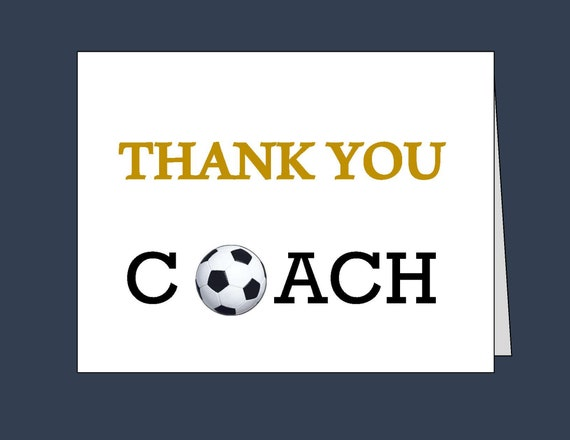 Soccer Thank You Card Printable Thank You Cards Soccer Etsy