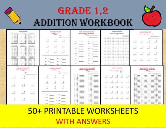 Math Addition Worksheets for Grade 1, 2/ pdf/ Year 1,2/ Grade 1,2/ on math project answers, math sheet answers, math test answers, math enrichment worksheets, math lessons answers, math table answers, worksheets and answers, math puzzle answers, math graphing worksheets,