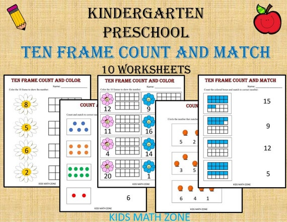 picture relating to Ten Frame Printable called 10 Body Counting and Game Quantities (Printable Worksheets) Kindergarten  Pre-K/pdf/ Preschool actions/Kindergarten/ Quality 1/Homeschool