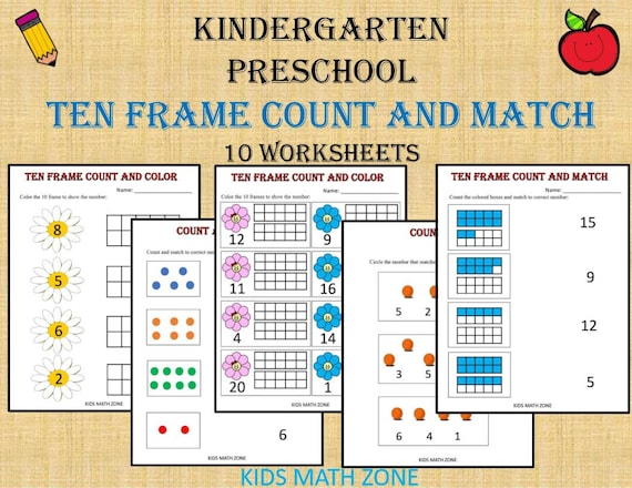 photograph about Ten Frame Printable titled 10 Body Counting and Game Quantities (Printable Worksheets) Kindergarten  Pre-K/pdf/ Preschool pursuits/Kindergarten/ Quality 1/Homeschool