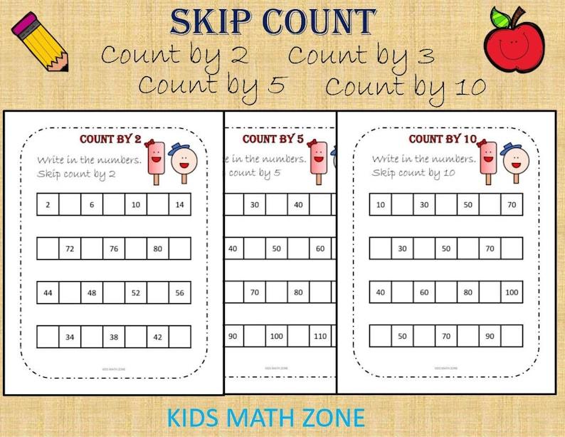 Count by 2 Count by 3 Count by 5 Count by 10  Skip Count image 0