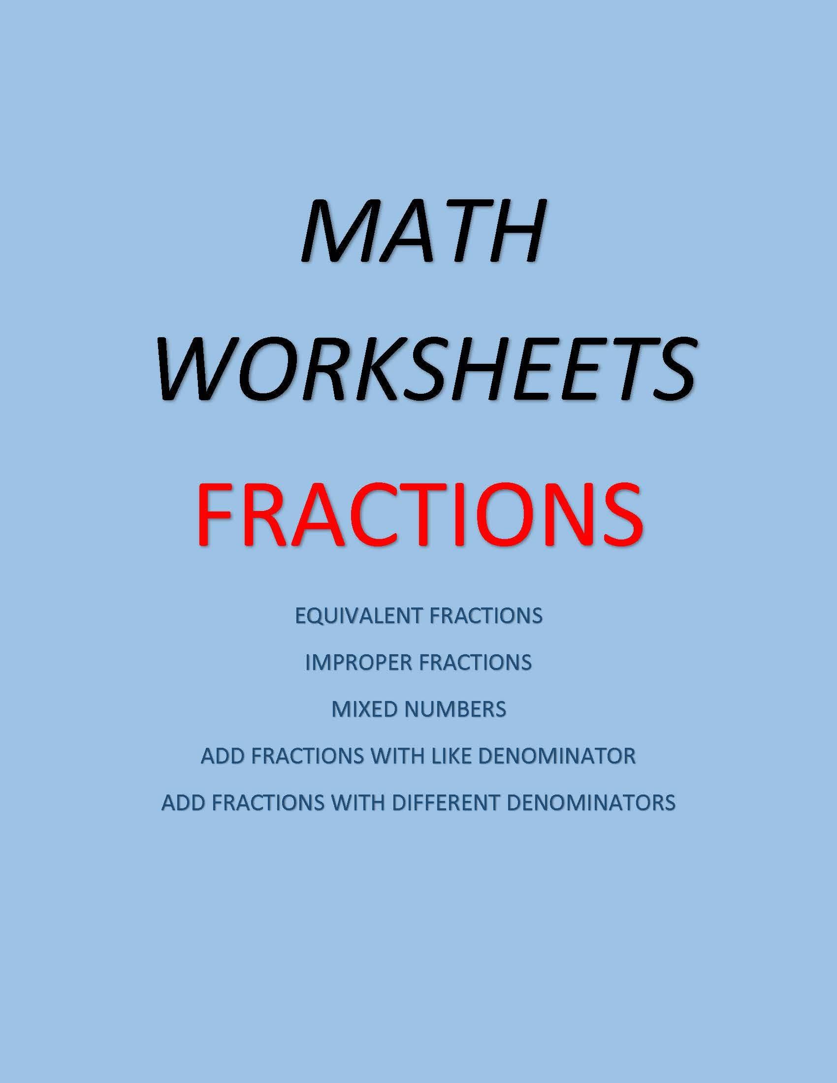 Math Worksheets Fractions 36 Worksheets Equivalent