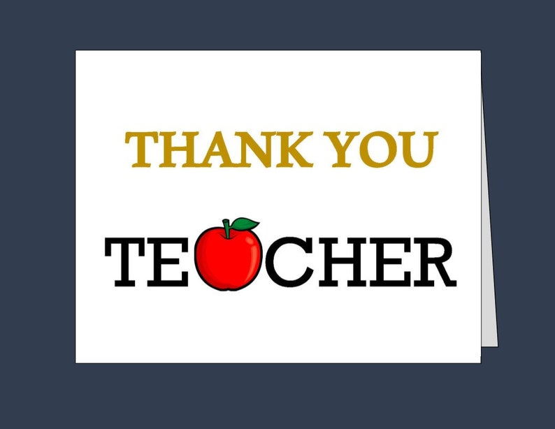 picture regarding Printable Thank You Cards for Teacher titled Trainer Thank Yourself Card/ Printable thank oneself playing cards/ Immediate Obtain/ 5X7 card/ 4.25x5.5 card/pdf/ Trainer present/ Trainer appreciation