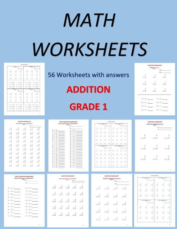 It is a picture of Zany Printable Worksheets for Grade 1