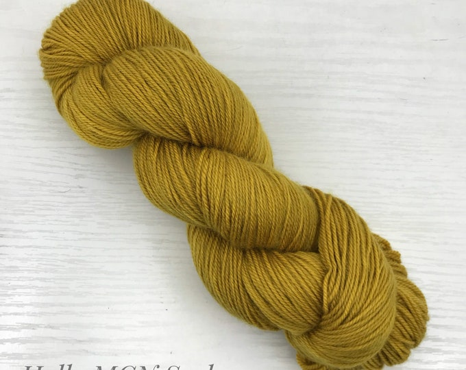 Dyed to Order - Multiple Bases - 100g Skein Hand Dyed Yarn - Golden Shadow