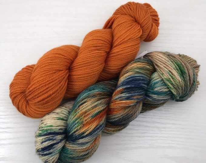 Canon Shawl Kit - Snake River - Jack Worsted Hand Dyed Yarn - 200g and 365yds total