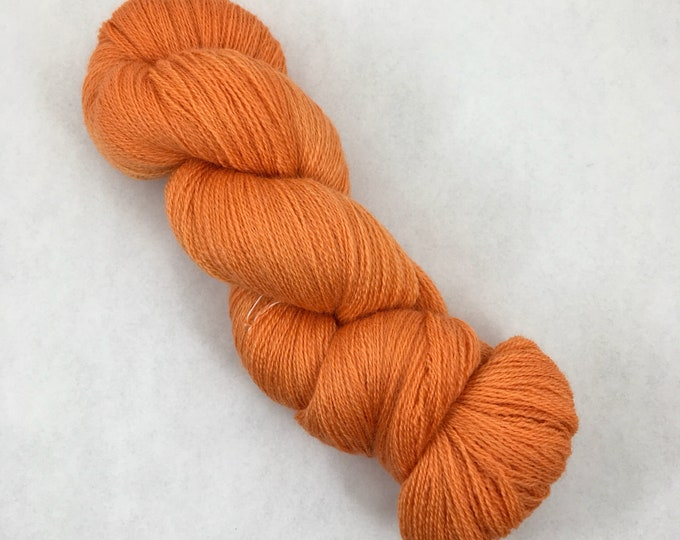 Tangerine- Lace Weight 100% British Bluefaced Leicester - 875 yards