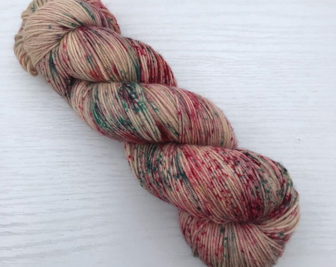 Ready to Ship Hand Dyed Yarn - Sugar Cookie - Jack 4ply Fingering - Superwash Merino