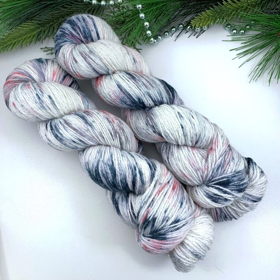 Boutique - Teagan Sparkle Sock - Superwash Merino Nylon Lurex - Ready to Ship Hand Dyed Yarn