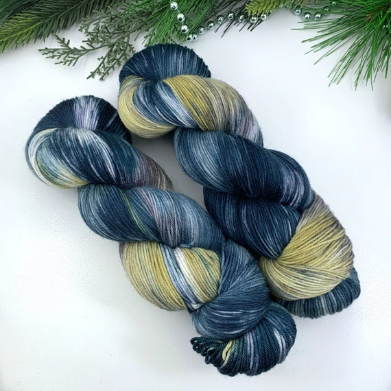 Skyline - Teagan Plush Sock - Superwash Merino Nylon - Ready to Ship Hand Dyed Yarn